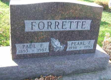 FORRETTE, PAUL F. - Minnehaha County, South Dakota | PAUL F. FORRETTE - South Dakota Gravestone Photos