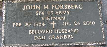 FORSBERG, JOHN M. (VIETNAM) - Minnehaha County, South Dakota   JOHN M. (VIETNAM) FORSBERG - South Dakota Gravestone Photos