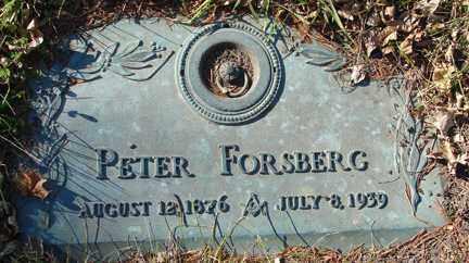 FORSBERG, PETER - Minnehaha County, South Dakota | PETER FORSBERG - South Dakota Gravestone Photos