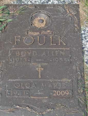 FOULK, BOYD ALLEN - Minnehaha County, South Dakota | BOYD ALLEN FOULK - South Dakota Gravestone Photos