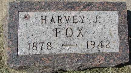 FOX, HARVEY J. - Minnehaha County, South Dakota | HARVEY J. FOX - South Dakota Gravestone Photos