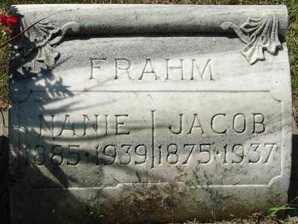 FRAHM, JACOB - Minnehaha County, South Dakota | JACOB FRAHM - South Dakota Gravestone Photos