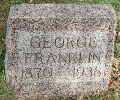 FRANKLIN, GEORGE - Minnehaha County, South Dakota | GEORGE FRANKLIN - South Dakota Gravestone Photos