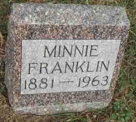 FRANKLIN, MINNIE - Minnehaha County, South Dakota | MINNIE FRANKLIN - South Dakota Gravestone Photos