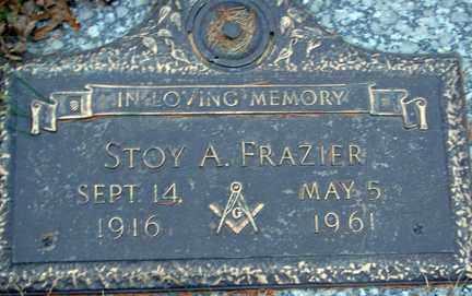 FRAZIER, STOY A. - Minnehaha County, South Dakota | STOY A. FRAZIER - South Dakota Gravestone Photos