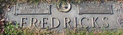 FREDRICKS, AGNES M. - Minnehaha County, South Dakota   AGNES M. FREDRICKS - South Dakota Gravestone Photos