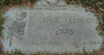 FREDRICKS, E. LEROY - Minnehaha County, South Dakota | E. LEROY FREDRICKS - South Dakota Gravestone Photos