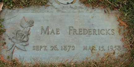 FREDERICKS, MAE - Minnehaha County, South Dakota | MAE FREDERICKS - South Dakota Gravestone Photos