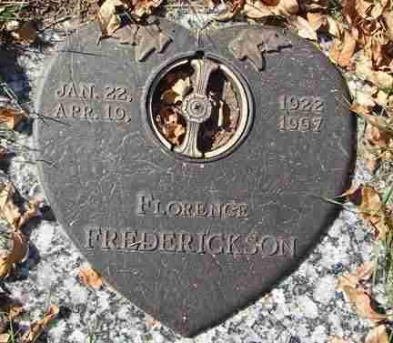 FREDERICKSON, FLORENCE - Minnehaha County, South Dakota | FLORENCE FREDERICKSON - South Dakota Gravestone Photos
