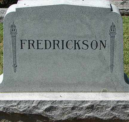 FREDRICKSON, FAMILY MARKER - Minnehaha County, South Dakota | FAMILY MARKER FREDRICKSON - South Dakota Gravestone Photos