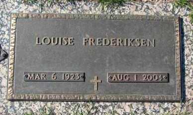 FREDERIKSEN, LOUISE - Minnehaha County, South Dakota   LOUISE FREDERIKSEN - South Dakota Gravestone Photos