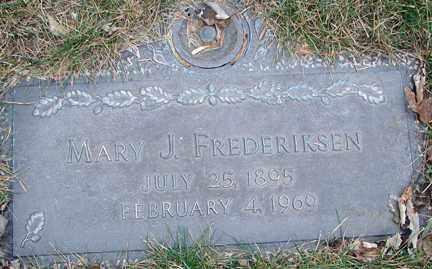 FREDERIKSEN, MARY J. - Minnehaha County, South Dakota | MARY J. FREDERIKSEN - South Dakota Gravestone Photos