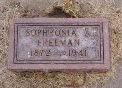 FREEMAN, SOPHRONIA A. - Minnehaha County, South Dakota | SOPHRONIA A. FREEMAN - South Dakota Gravestone Photos