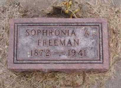FREEMAN, SOPHRONIA A. - Minnehaha County, South Dakota | SOPHRONIA A. FREEMAN - South Dakota Gravestone Photos
