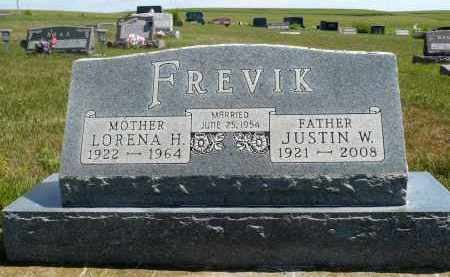 FREVIK, JUSTIN W. - Minnehaha County, South Dakota | JUSTIN W. FREVIK - South Dakota Gravestone Photos