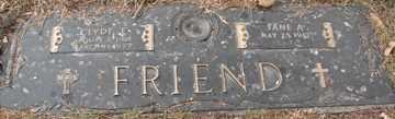 FRIEND, JANE A. - Minnehaha County, South Dakota   JANE A. FRIEND - South Dakota Gravestone Photos