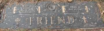 FRIEND, JANE A. - Minnehaha County, South Dakota | JANE A. FRIEND - South Dakota Gravestone Photos