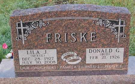 MCKEE FRISKE, LILA J. - Minnehaha County, South Dakota | LILA J. MCKEE FRISKE - South Dakota Gravestone Photos