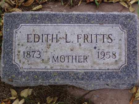 FRITTS, EDITH L. - Minnehaha County, South Dakota   EDITH L. FRITTS - South Dakota Gravestone Photos