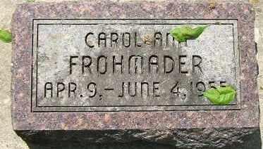 FROHMADER, CAROL ANN - Minnehaha County, South Dakota | CAROL ANN FROHMADER - South Dakota Gravestone Photos
