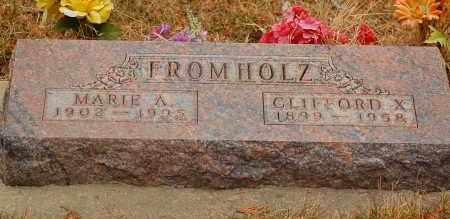 FROMHOLZ, CLIFFORD X. - Minnehaha County, South Dakota | CLIFFORD X. FROMHOLZ - South Dakota Gravestone Photos
