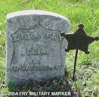 FRY, ZIBA A. - Minnehaha County, South Dakota | ZIBA A. FRY - South Dakota Gravestone Photos