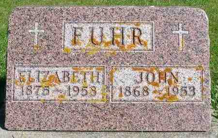 FUHR, JOHN - Minnehaha County, South Dakota | JOHN FUHR - South Dakota Gravestone Photos