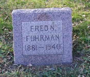 FUHRMAN, FRED N. - Minnehaha County, South Dakota   FRED N. FUHRMAN - South Dakota Gravestone Photos
