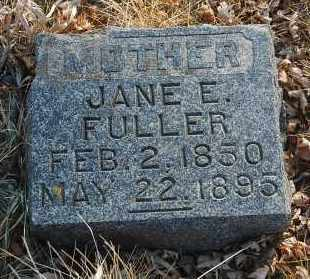 FULLER, JANE E. - Minnehaha County, South Dakota | JANE E. FULLER - South Dakota Gravestone Photos