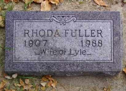 FULLER, RHODA - Minnehaha County, South Dakota | RHODA FULLER - South Dakota Gravestone Photos