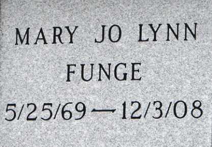 FUNGE, MARY JO LYNN - Minnehaha County, South Dakota | MARY JO LYNN FUNGE - South Dakota Gravestone Photos