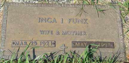 FUNK, INGA I. - Minnehaha County, South Dakota | INGA I. FUNK - South Dakota Gravestone Photos