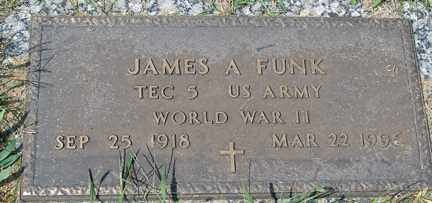 FUNK, JAMES A. (WWII) - Minnehaha County, South Dakota | JAMES A. (WWII) FUNK - South Dakota Gravestone Photos