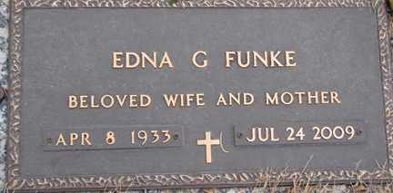 FUNKE, EDNA GEOGETTA - Minnehaha County, South Dakota | EDNA GEOGETTA FUNKE - South Dakota Gravestone Photos