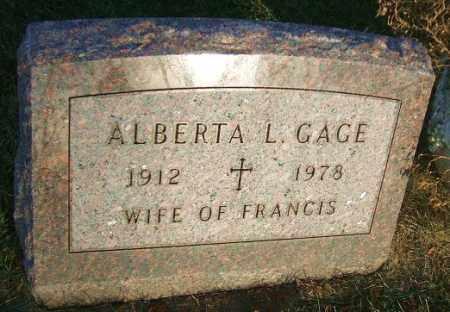 GAGE, ALBERTA L. - Minnehaha County, South Dakota | ALBERTA L. GAGE - South Dakota Gravestone Photos