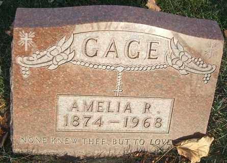 GAGE, AMELIA R. - Minnehaha County, South Dakota | AMELIA R. GAGE - South Dakota Gravestone Photos