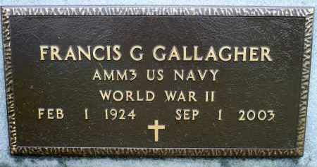 GALLAGHER, FRANCIS G. (WWII) - Minnehaha County, South Dakota | FRANCIS G. (WWII) GALLAGHER - South Dakota Gravestone Photos