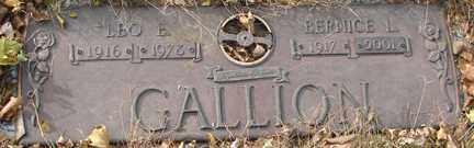 GALLION, LEO - Minnehaha County, South Dakota | LEO GALLION - South Dakota Gravestone Photos