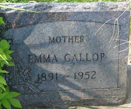GALLOP, EMMA - Minnehaha County, South Dakota | EMMA GALLOP - South Dakota Gravestone Photos