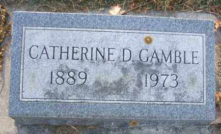 GAMBLE, CATHERINE D. - Minnehaha County, South Dakota | CATHERINE D. GAMBLE - South Dakota Gravestone Photos