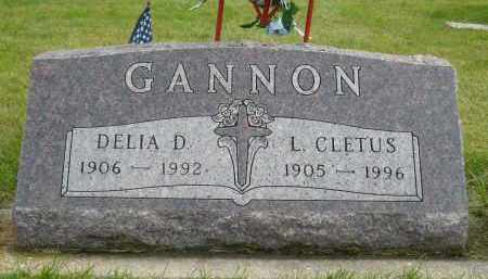 GANNON, DELIA D. - Minnehaha County, South Dakota | DELIA D. GANNON - South Dakota Gravestone Photos