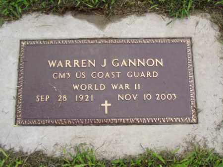 GANNON, WARREN J. - Minnehaha County, South Dakota | WARREN J. GANNON - South Dakota Gravestone Photos