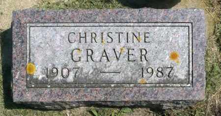 GRAVER, CHRISTINE - Minnehaha County, South Dakota   CHRISTINE GRAVER - South Dakota Gravestone Photos