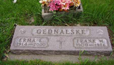 GEDNALSKE, FRANK W. - Minnehaha County, South Dakota | FRANK W. GEDNALSKE - South Dakota Gravestone Photos