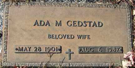 GEDSTAD, ADA M. - Minnehaha County, South Dakota   ADA M. GEDSTAD - South Dakota Gravestone Photos