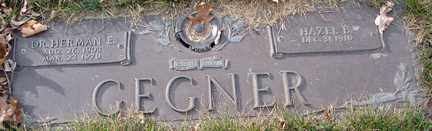 GEGNER, HERMAN E.  DR. - Minnehaha County, South Dakota | HERMAN E.  DR. GEGNER - South Dakota Gravestone Photos