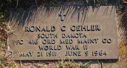 GEHLER, RONALD C. (WW II) - Minnehaha County, South Dakota   RONALD C. (WW II) GEHLER - South Dakota Gravestone Photos