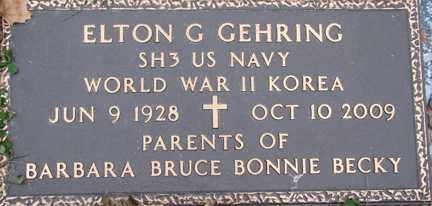GEHRING, ELTON GOTTLIEP (WWII - KOREA) - Minnehaha County, South Dakota | ELTON GOTTLIEP (WWII - KOREA) GEHRING - South Dakota Gravestone Photos