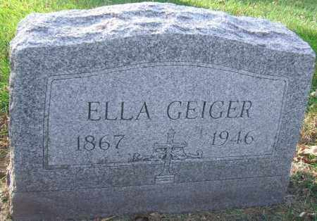 GEIGER, ELLA - Minnehaha County, South Dakota | ELLA GEIGER - South Dakota Gravestone Photos