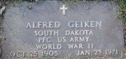 GEIKEN, ALFRED (WWII) - Minnehaha County, South Dakota | ALFRED (WWII) GEIKEN - South Dakota Gravestone Photos